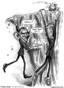 Obama and Boehner - Cliffhangers by Taylor Jones