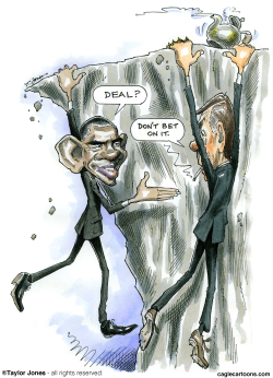 Obama and Boehner - Cliffhangers -  by Taylor Jones