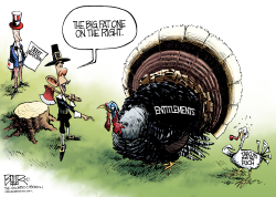 Turkey and Taxes  by Nate Beeler