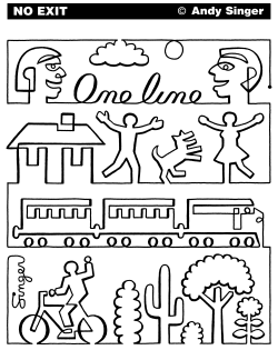 One Line by Andy Singer