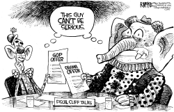 Fiscal Cliff Clowns by Rick McKee