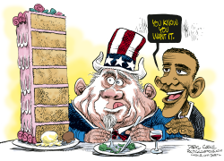 Fat Uncle Sam  by Daryl Cagle