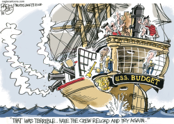 Mutiny on the Budget -  by Pat Bagley