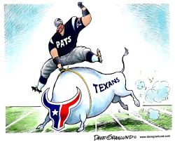 Patriots vs Texans by Dave Granlund