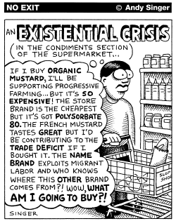 Existential Crisis with Mustard by Andy Singer