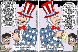 US Stiffs Poor Nations -- color by Wolverton