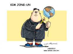Kim Jong-Un_A boy with his toy by Lailson