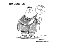 Kim Jong-Un_A boy with his toy BW by Lailson