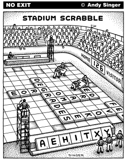 Stadium Scrabble by Andy Singer