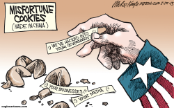 Misfortune Cookies  by Mike Keefe