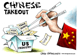 China cyber-hacking by Dave Granlund