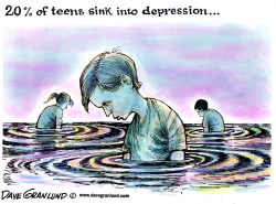 Depressed teens by Dave Granlund