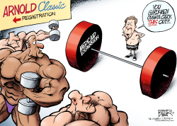 LOCAL OH - Kasich the Weightlifter  by Nate Beeler