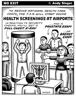 Healthcare Screenings at Airports by Andy Singer