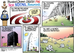 National Monuments  by Nate Beeler