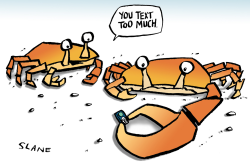 Crabs Who Text Too Much by Chris Slane