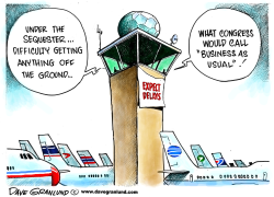 Flight delays and sequester by Dave Granlund