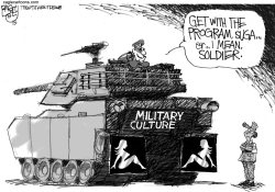 Military Harassment Flap by Pat Bagley