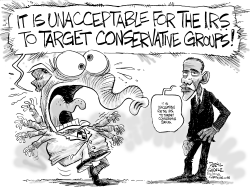 IRS Scandal and Obama by Daryl Cagle