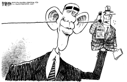 Obama and the Press by Rick McKee