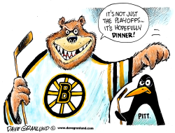 Bruins vs Penguins playoffs by Dave Granlund