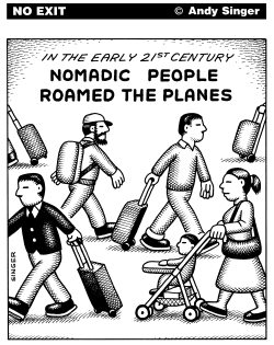 Nomadic People Roamed the Planes by Andy Singer