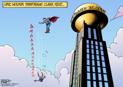 Superman Subpoena  by Nate Beeler