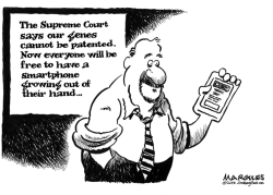 Supreme Court says genes cannot be patented  by Jimmy Margulies
