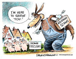 Foreclosure scams by Dave Granlund
