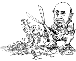 Bernanke Trims and Sprouts by Daryl Cagle