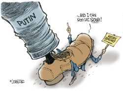 Seeing Putins sole -- color by John Cole