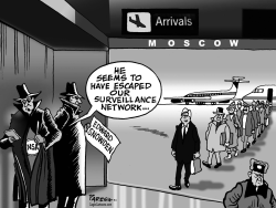Snowden escapes by Paresh Nath