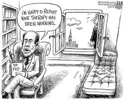Fed Chief Bernanke by Adam Zyglis