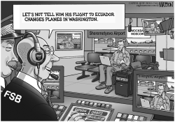 Surveilling Snowden at Moscow Airport by RJ Matson