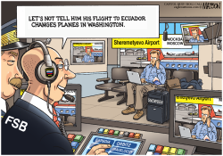 Surveilling Snowden at Moscow Airport- by RJ Matson