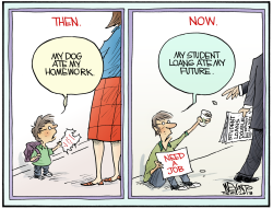 Student Loans Bite  by Christopher Weyant