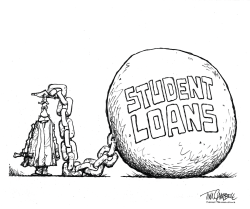 Student Loans BW by Tim Campbell