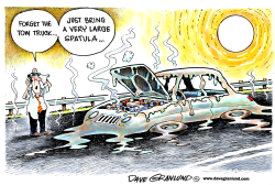 Heatwave and cars by Dave Granlund