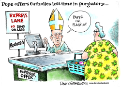 Pope and purgatory by Dave Granlund