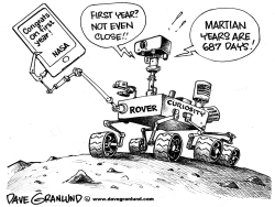 Curiosity rover 1 year by Dave Granlund