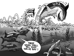 Naval drill in Asia by Paresh Nath