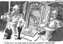 The Doormat of War by Pat Bagley