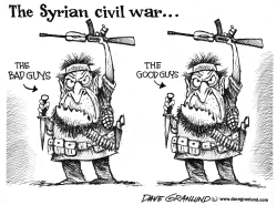 Syria two sides by Dave Granlund