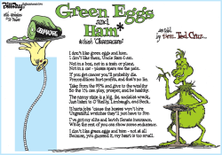 GREEN EGGS and HAM  color by Bill Day