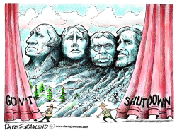 Gov't shutdown  Rushmore by Dave Granlund