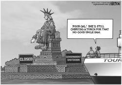 Statue of Liberty Shutdown by RJ Matson