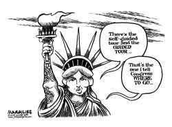 Statue of Liberty opens despite shutdown  by Jimmy Margulies