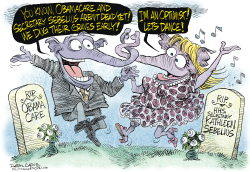 GOP Grave Dance  by Daryl Cagle