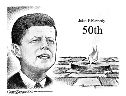 JFK Eternal Flame 50th by Dave Granlund