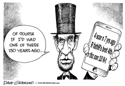Gettysburg address 150th by Dave Granlund